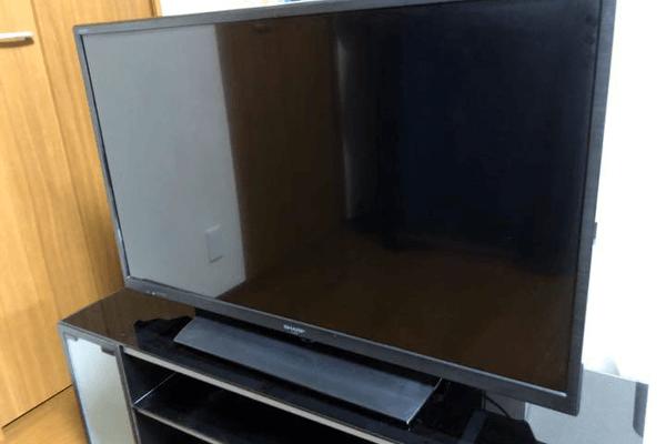 茨木市で液晶テレビとテレビ台をお引取り