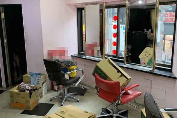 美容室閉店に伴うでの片付け作業