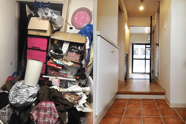 引越しに伴う汚部屋の不用品をまとめて回収処分