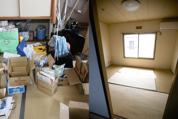 和室の片づけ・不用品や生活ゴミ・粗大ゴミすべて回収