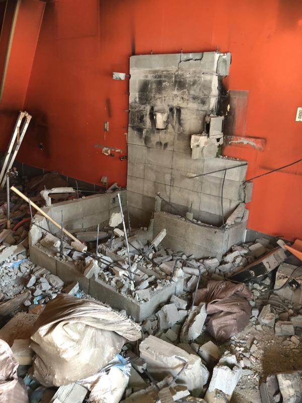 大阪市東成区でピザ屋閉店に伴う原状回復工事